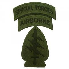 Bordado Special Forces Airborne Fundo Verde