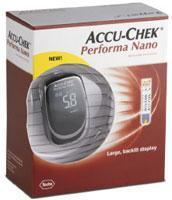 Accu-chek performa nano kit aparelho preto.