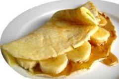 Crepes de Banana com Caramelo