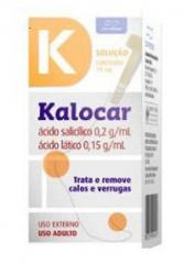 Kalocar solução 15ml - Trata e remove calos e