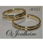 Os anéis de casamento,ouro