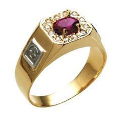 Anéis de formatura de ouro com diamantes