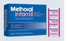 Melhoral infantil 8 comprimidos.