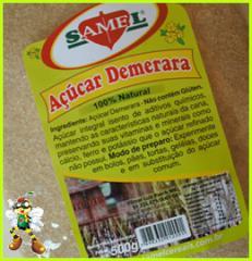 Açúcar Demerara.