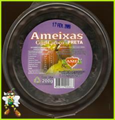 Ameixa preta com caroço pote 200 g.