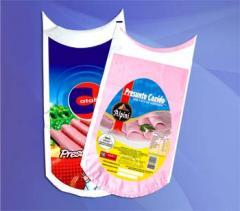 Embalagens de tripas de nylon.