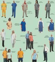 Uniformes de trabalho.