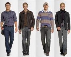 Vestuário masculino.