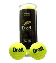 Tubo Com 3 Bolas De Tênis Draft