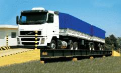Única balança rodoviária realmente transportável .