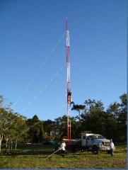 Torre estaiada soldada módulos 3m chapa 2.25mm