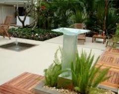 Material arquitetônico para paisagísmo em parques,