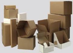 Caixas e caixilhos de papelão prensado para