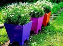 Vasos decorativos para parques e jardins e
