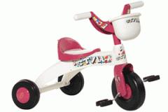 Triciclo feminino.