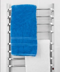 Toalheiro térmico CROMADO para duas toalhas .