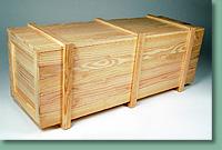 Caixa maciça de pinus