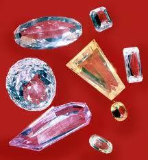 Imitação de vidro das jóias