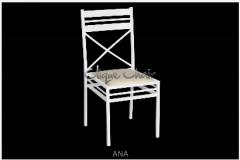Cadeira de Ferro Empilhável Modelo Ana.