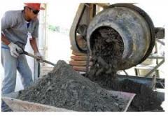 Bases de pisos de areia e cimento, concreto