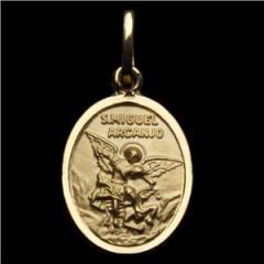 Medalha Anjo São Miguel em ouro