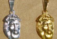 Face de Cristo Ouro e Prata