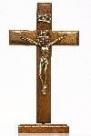 Crucifixo de Madeira Mesa e Parede