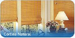 Cortina em madeira fina para interiores.