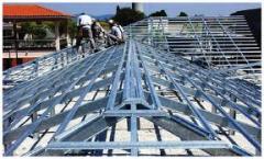 Estrutura de aço para telhados.