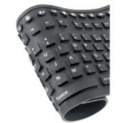 Teclado Flexivel Multimedia Preto USB