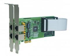 Placa PCI Express 4E1 com Cancelamento de Eco