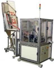 Maquina de corte e montagem de selo