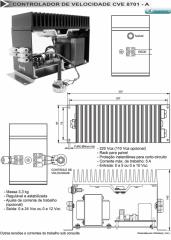 Controlador de velocidade CVE-8701 - A