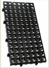 Estrado plástico leve tipo piso plástico modular .