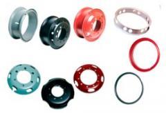Aros, rodas e anéis.