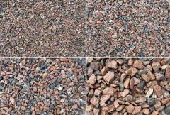Pedra britada de granito