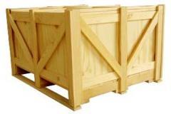 Embalagens de madeira.