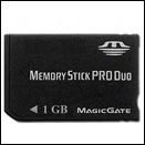 Cartão Memory Stick Pro Duo