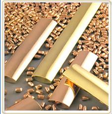 Granalhas e anodos de сobre e latão -  aplicações