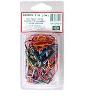 Clips Acc Colorido Aço Epox 2/0 Medio, c/100pçs.