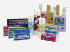 Sacos plásticos - lisos e impressos de PEBD/PEAD,