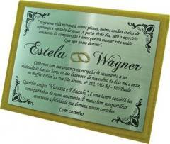 Convite de casamento em aço inox.