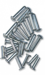 Rebites e Parafusos - confeccionados em alumínio