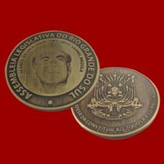 Medalha latão 3 mm