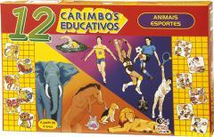 Caixa de Carimbos com 12 peças