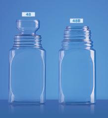 Linha de frascos - frascos com diâmetros e volumes