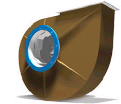 Exaustores centrífugos -  em PP com Rotor em PVC ou PP.