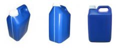 Embalagem 5 litros na cor azul, para produtos