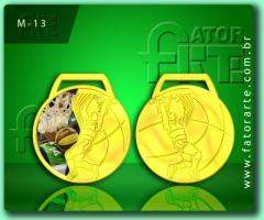 Medalha padrão, formato para Basquete.