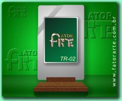 TR-02, Troféu em chapa metálica